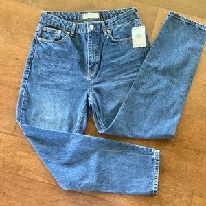NWT FREE PEOPLE relaxed fit, cropped jeans